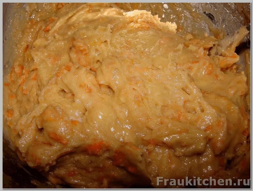Готовое морковное тесто
