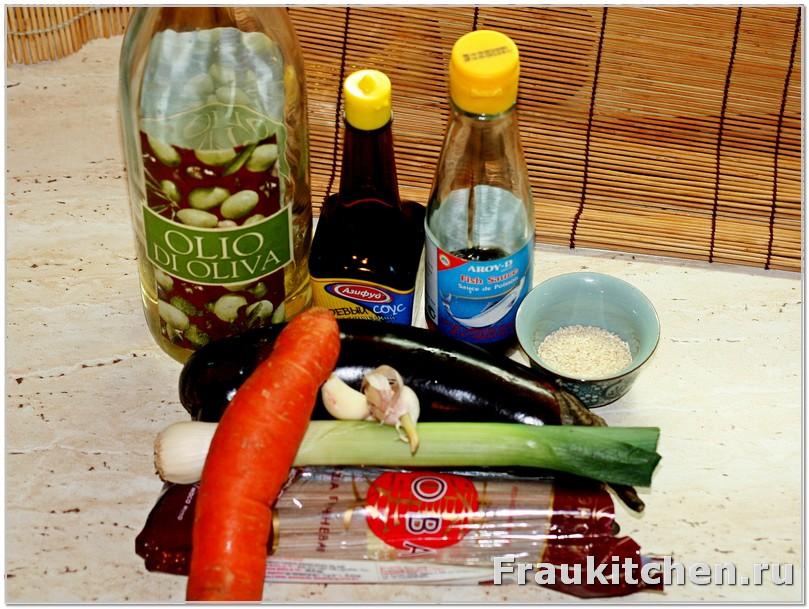 Из чего сделана гречневая лапша с овощами