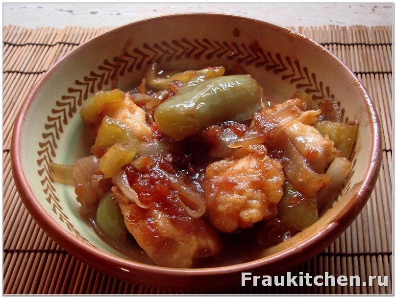 Курица в кисло сладком соусе по китайски