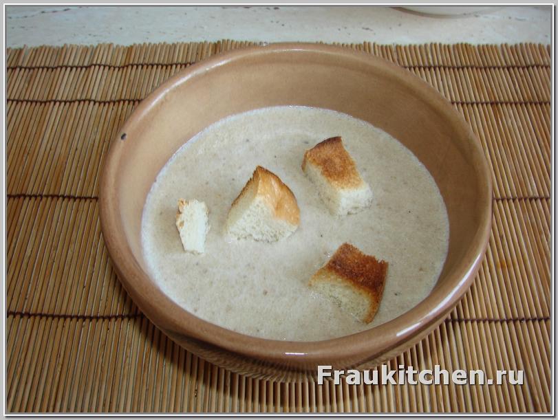 Готовый суп-пюре из шампиньонов