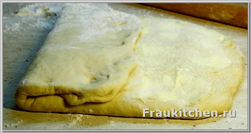 Свернуть тесто для свердловской слойки