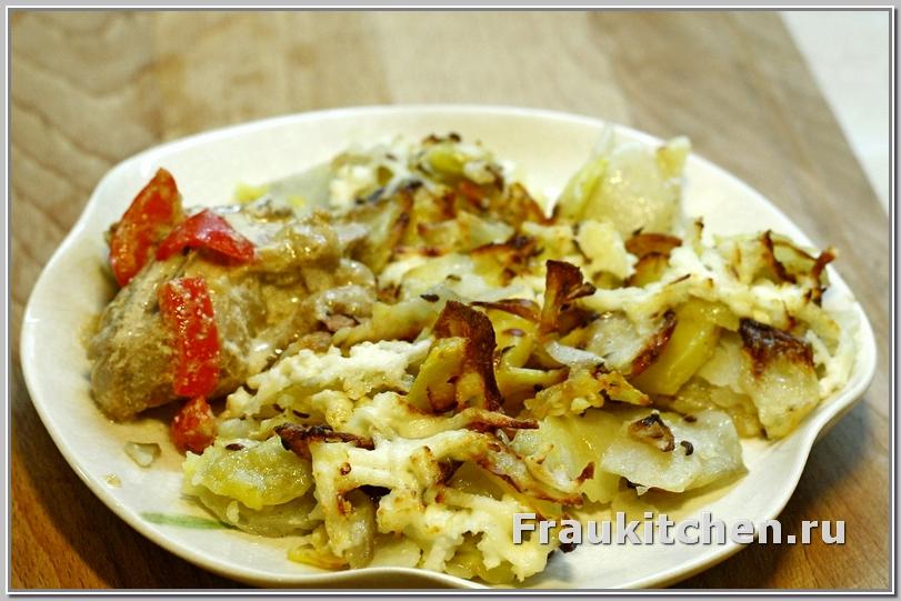 гратен картофельный и курица