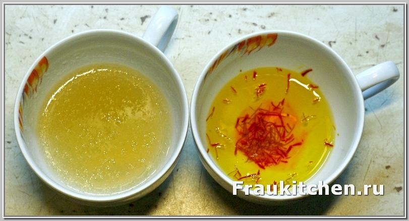 шафран и желатин для соуса к курице