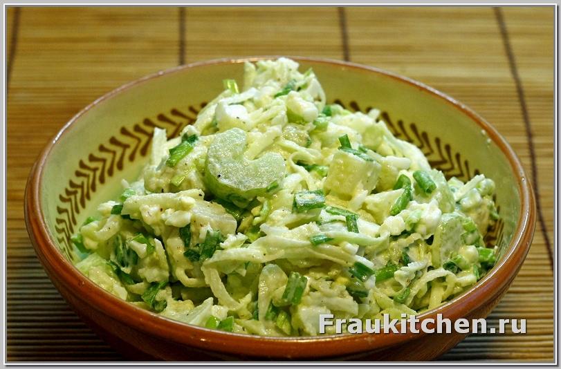 Салат зимний картофельный