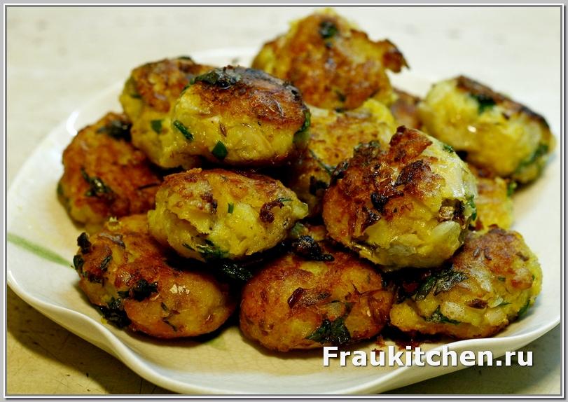 Под хрустящек корочкой картофельных крокетов скрывается нежное ароматное пюре с рыбой