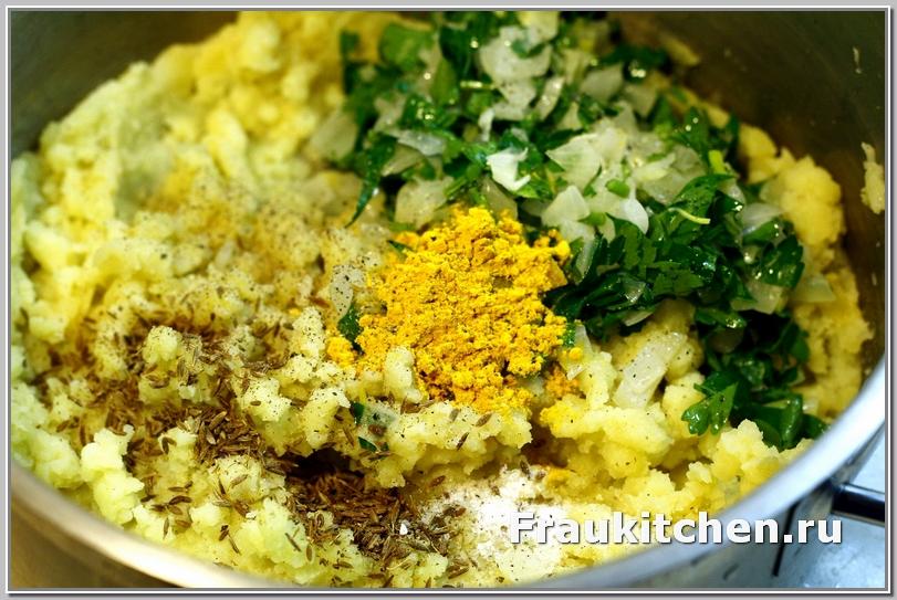 Куркума сделает картофельные крокеты золотистыми внутри