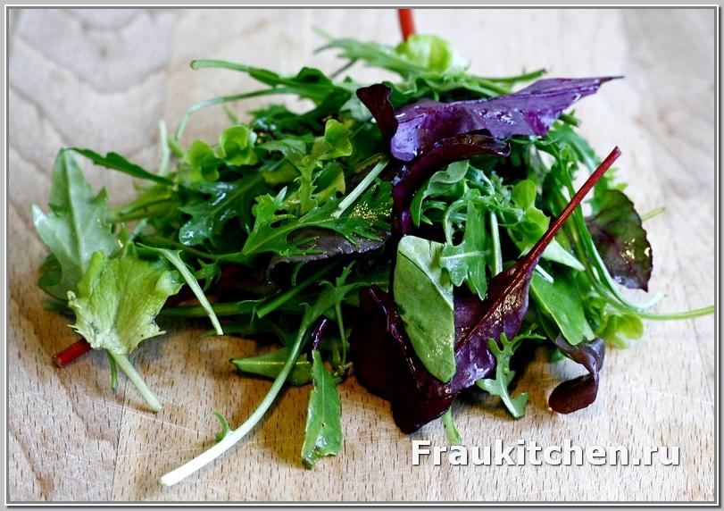 Микст салат для лионского салата