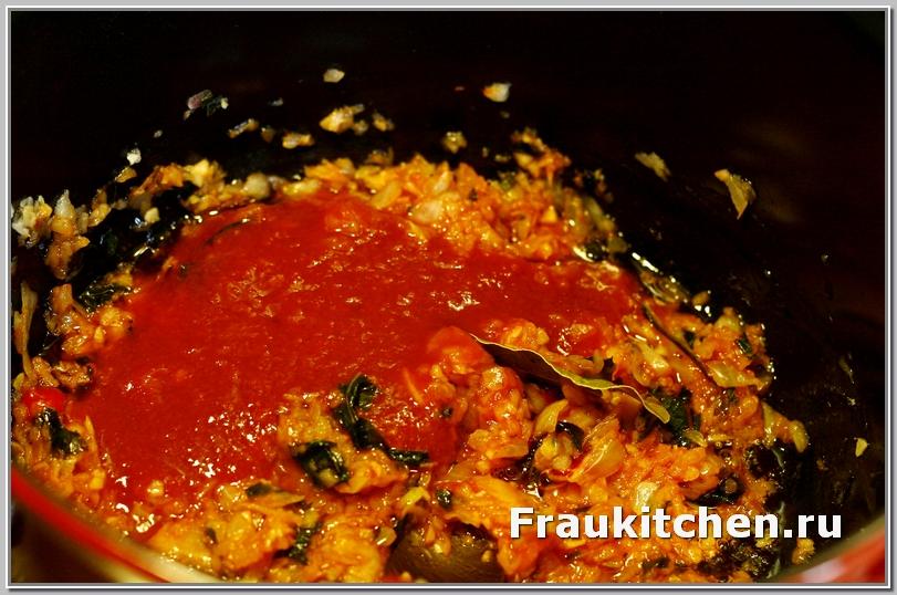 Вместо кубанского соуса можно взять свежие помидоры или в собственном соку