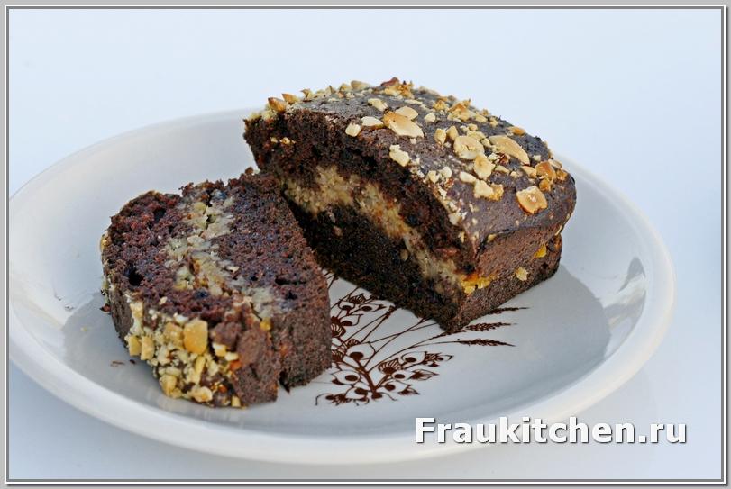Шоколадный Кекс с Каштановой Начинкой готов