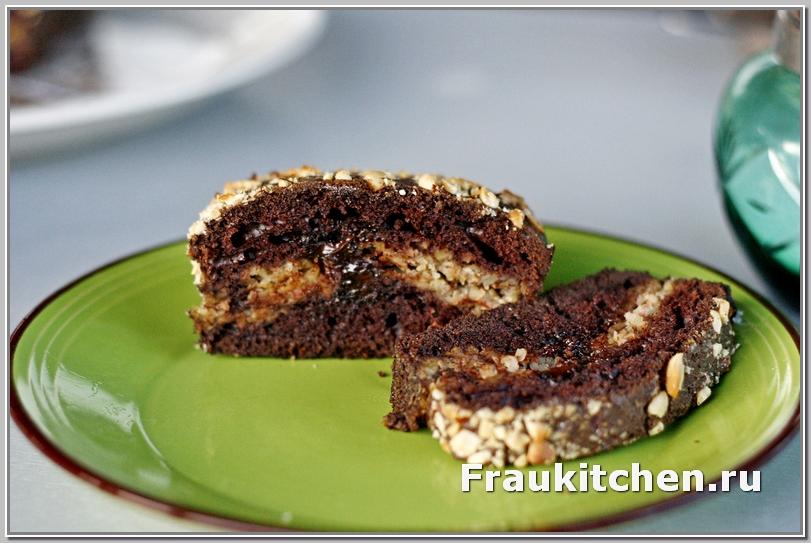 Шоколадный Кекс с Каштановой Начинкой