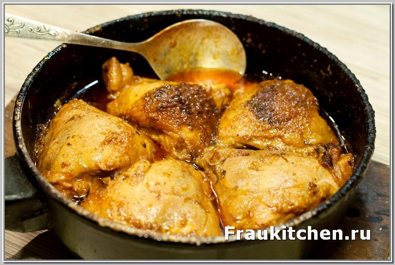 Куриные Бедрышки в Апельсиново-Горчичном Соусе  готовы