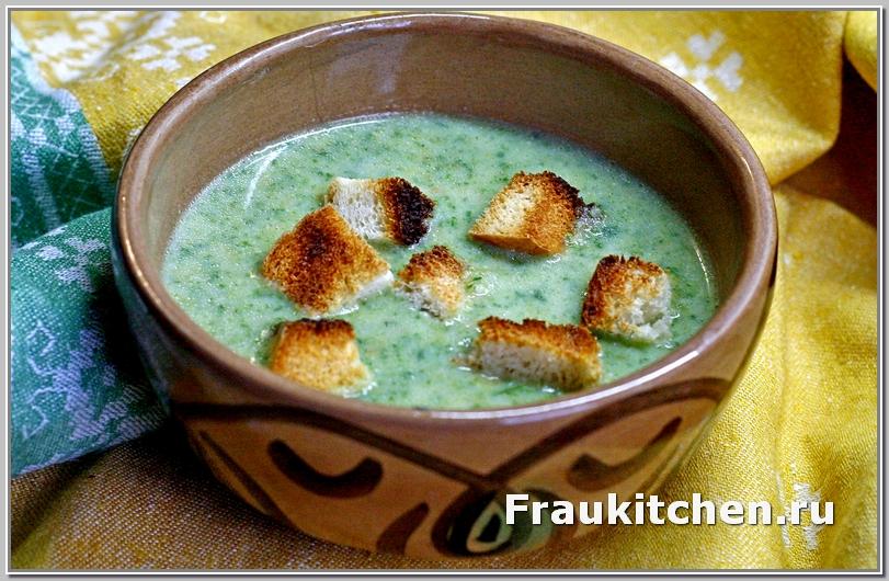 Овощной Суп Пюре из Шпината Готов