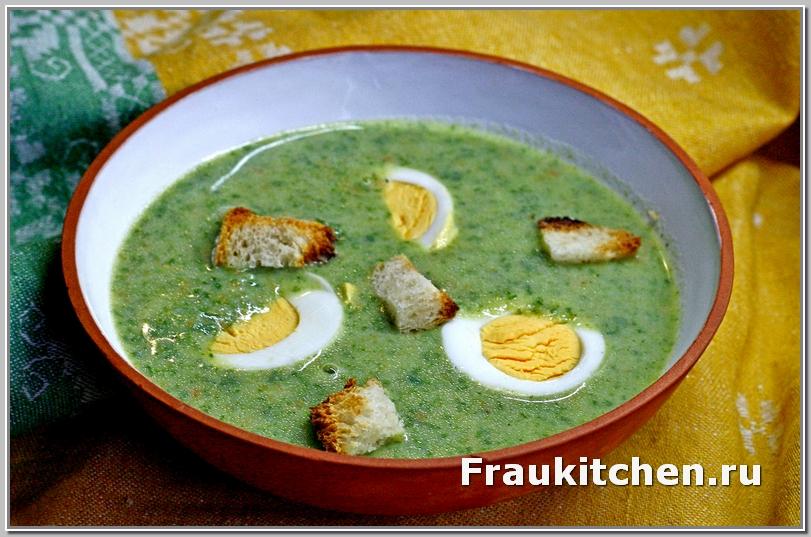 Овощной Суп Пюре со Шпинатом