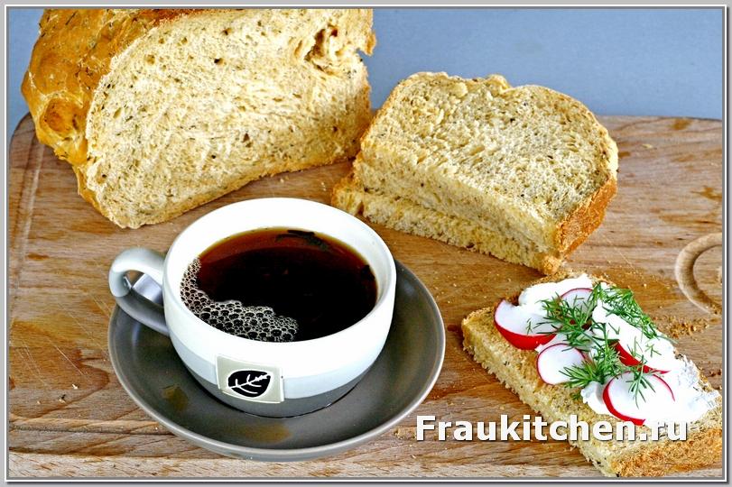 Хлеб с травами и чесноком