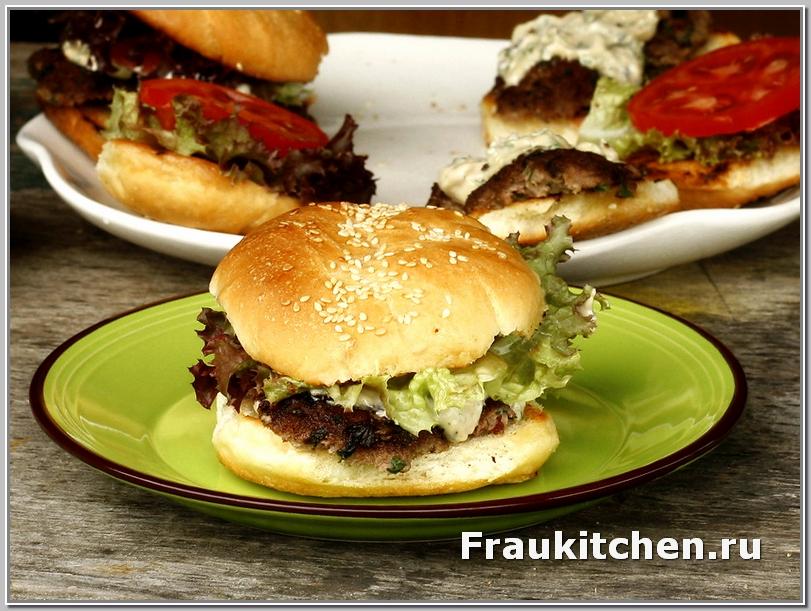 Домашний Гамбургер с Соусом Айоли