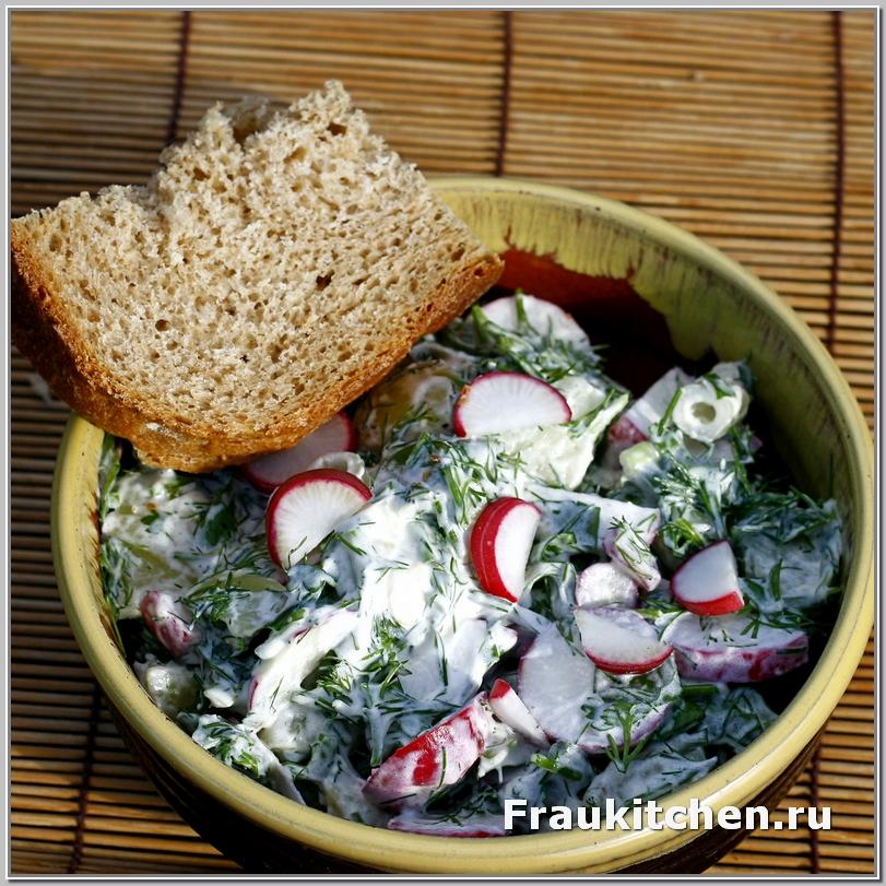 Картофельный Салат с Редиской и Сливочным Соусом