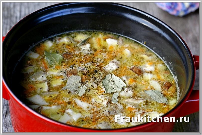 Суп из белых грибов готов