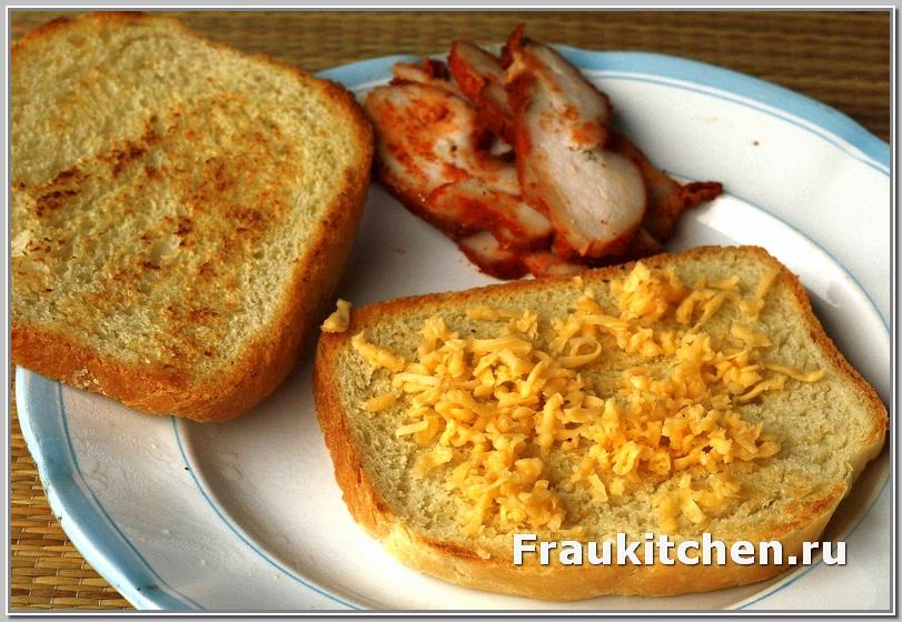 Сыр -основа горячего бутерброда