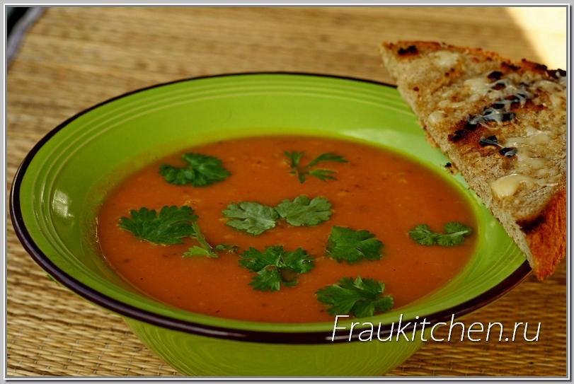 Суп-Пюре из Тыквы с Сыром и Гренками готов