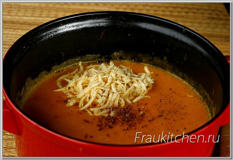 Сыр для тыквенного супа лучше брать поострее
