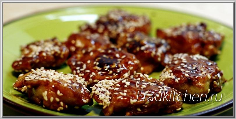 рецепты китайской кухни курица в карамели
