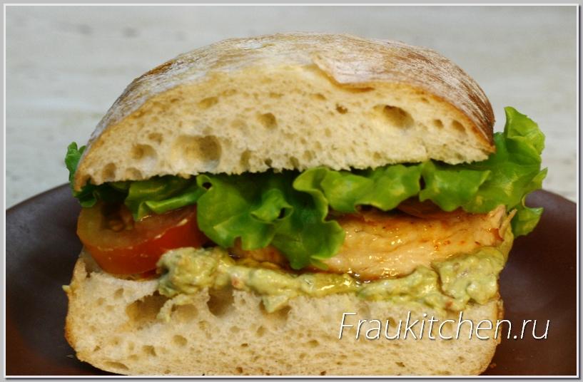 Сэндвич с Курицей и Гуакамоле готов
