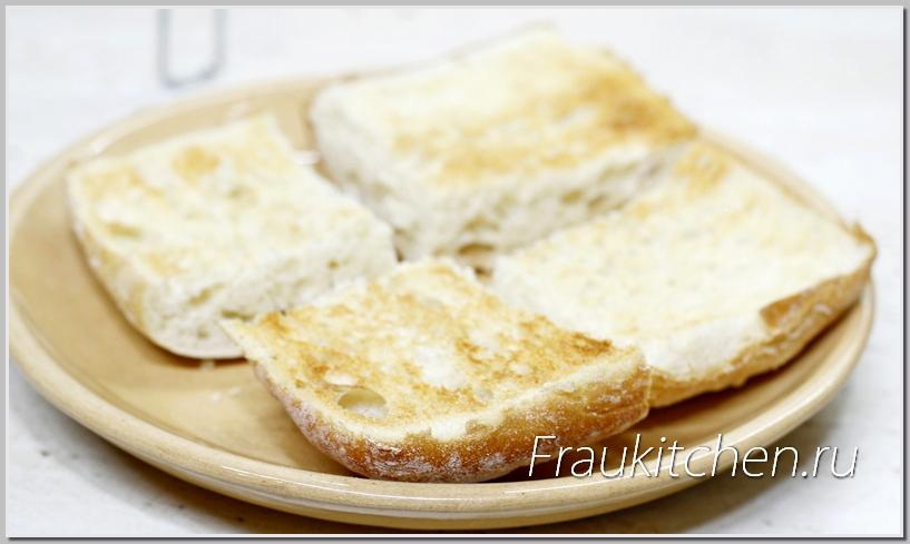вместо чиабатты можно использовать зерновой хлеб